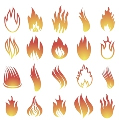 Hot fire icons vector