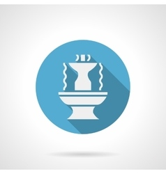 Abstract fountain blue round icon vector