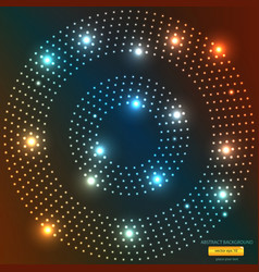 abstract light circle backround vector image