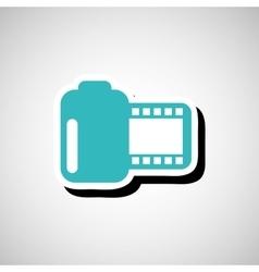 Cinema film roll vector