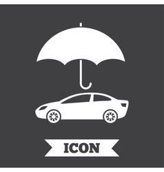 Car insurance sign icon protection symbol vector