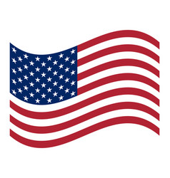 american flag official symbol of the state vector image