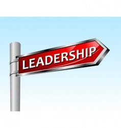 Arrow road sign leadership vector