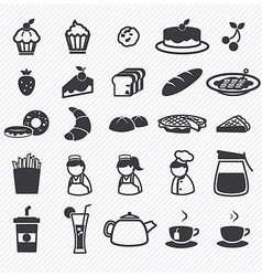 Bakery icons set vector image vector image