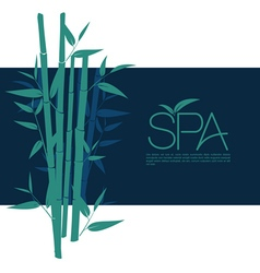 Bamboo for relax massage vector
