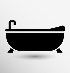 Bathtub bath icon button logo symbol concept vector