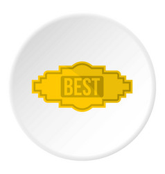 Best label icon circle vector