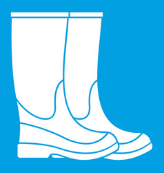 Boots icon white vector