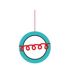 christmas beautiful ball hanging decoration vector image vector image