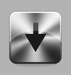 Chrome button vector image