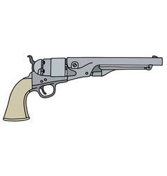 Classic wild west revolver vector