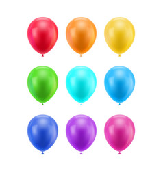 Colorful realistic ballons vector