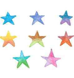 Colorful star icons vector