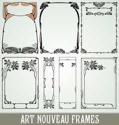 Decorative art nouveau frames vector