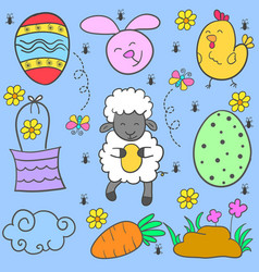 Doodle of easter egg style colorful vector