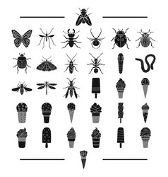 Entertainment insects nature and other web icon vector