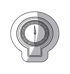 Figure sticker clock icon vector