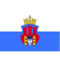 Flag of krakow poland vector