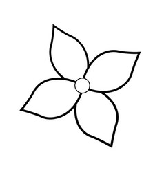 Flower decoration nature spring concept outline vector