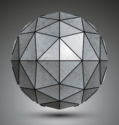 Grayscale galvanized 3d sphere created with vector