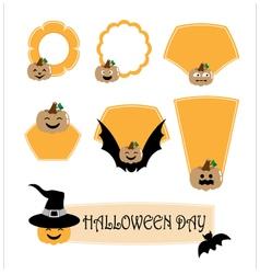 Halloween label vector