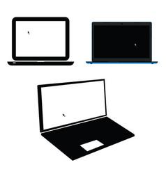 laptop set technology modern vector image