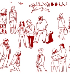 people seamless vector image vector image