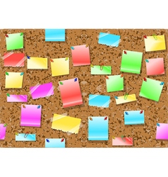 Post it notes background vector