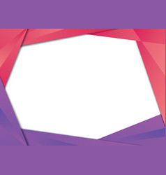 Red and purple triangle frame border vector