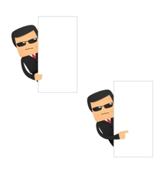 set of funny cartoon security vector image vector image