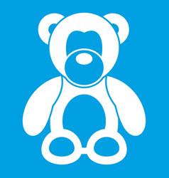 Teddy bear icon white vector