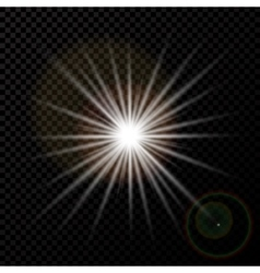 The outbreak of a new star glare and rays on a vector