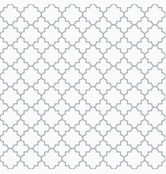 Traditional quatrefoil lattice pattern outline vector