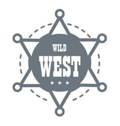 Wild west logo simple style vector