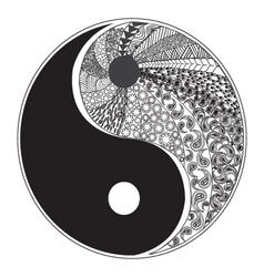 yinyang symbol 2 38 vector image