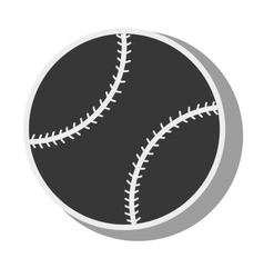 silhouette ball baseball isolated design vector image