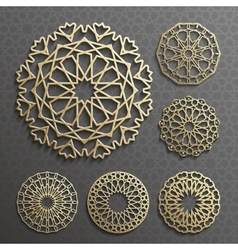 Islamic ornament  persian motiff  3d vector