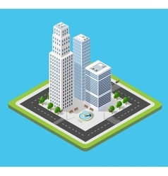 Isometric 3D city vector image