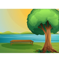 Bench in nature vector