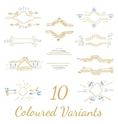 bright colored variants vector image