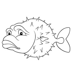 Long-spine porcupinefish vector