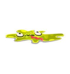 Cute cartoon slick monster funny bright jelly vector