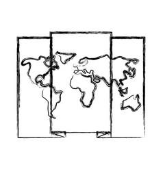World map location vector