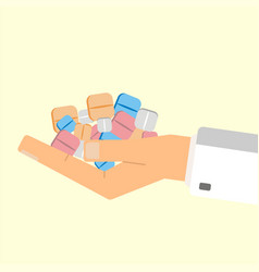 Doctor giving pills healthcare concept vector
