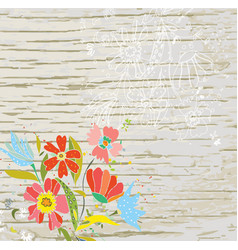 floral background for the eco card vector image