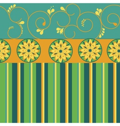 Flower striped pattern vector