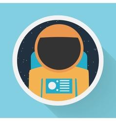astronaut portrait vector image