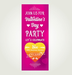 Invitation Valentines Day Typography Love poster vector image