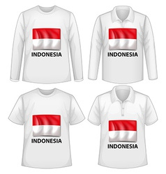 Indonesia shirt vector