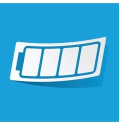 Empty battery sticker vector